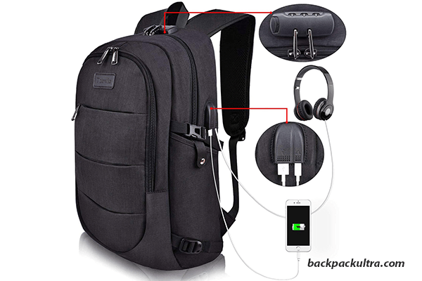 Tzowla Water Resistant Laptop Backpack