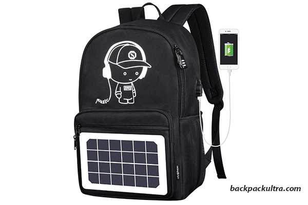 KOBWA Solar stylish black Backpack