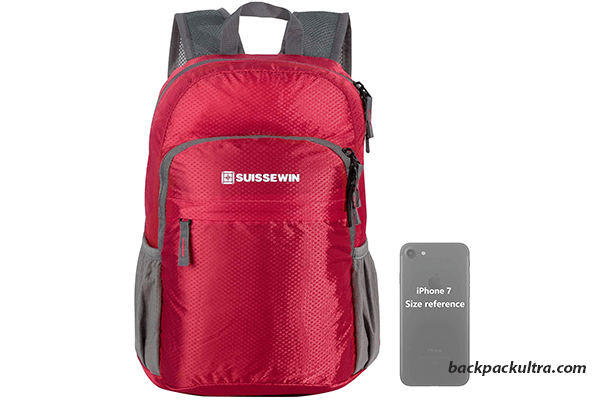 Suissewin Packable Lightweight Hiking Backpack