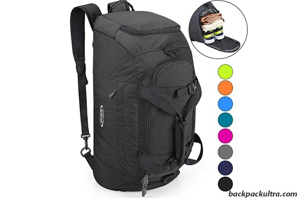 G4Free Travel Duffel Backpack with Shoe Compartment (40L)