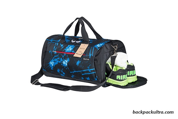 Kuston Sports Gym Bag with Shoes Compartment