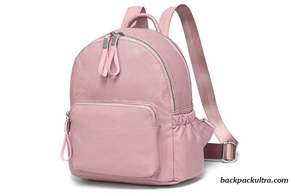 Vaschy Faux Leather Small Backpack for Women