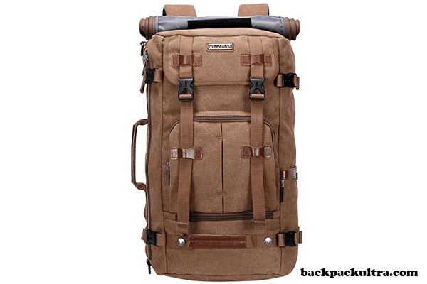WITZMAN Canvas Vintage Travel Backpack