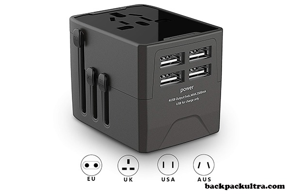 JOOMFEEN Universal Travel All-in-One Wall Charger