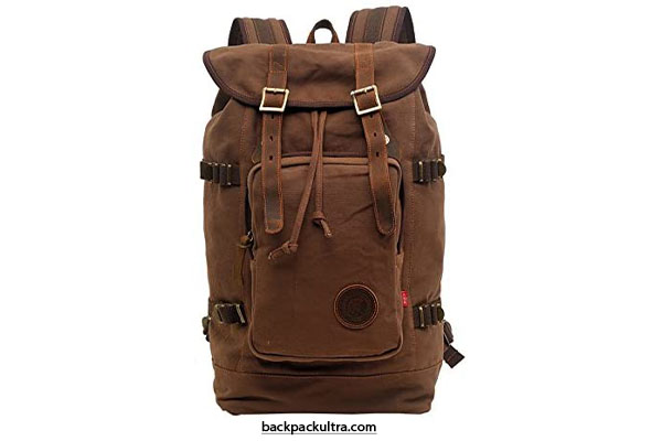 Volyer Canvas Leather Hiking Backpack